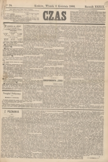 Czas. R.39, Ner 78 (6 kwietnia 1886)