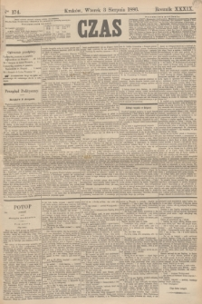 Czas. R.39, Ner 174 (3 sierpnia 1886)