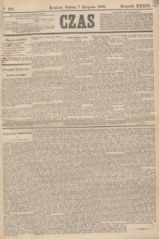 Czas. R.39, Ner 178 (7 sierpnia 1886)