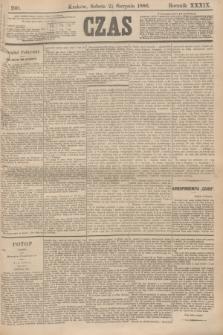 Czas. R.39, Ner 190 (21 sierpnia 1886)