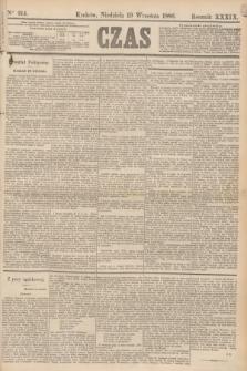 Czas. R.39, Ner 214 (19 września 1886)