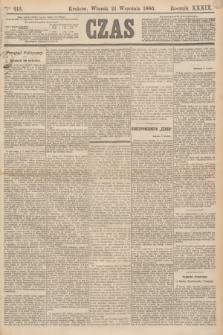 Czas. R.39, Ner 215 (21 września 1886)