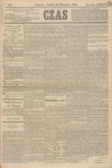 Czas. R.39, Ner 219 (25 września 1886)