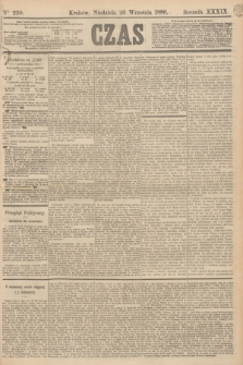 Czas. R.39, Ner 220 (26 września 1886)