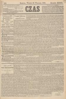 Czas. R.39, Ner 221 (28 września 1886)