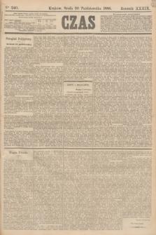 Czas. R.39, Ner 240 (20 października 1886)