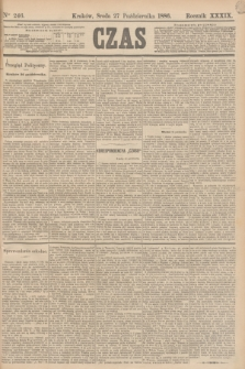 Czas. R.39, Ner 246 (27 października 1886)