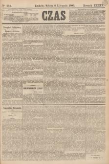 Czas. R.39, Ner 254 (6 listopada 1886)
