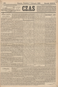 Czas. R.39, Ner 255 (7 listopada 1886)