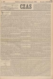 Czas. R.39, Ner 258 (11 listopada 1886)