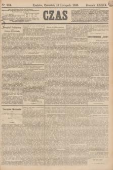 Czas. R.39, Ner 264 (18 listopada 1886)