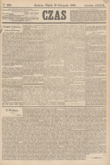 Czas. R.39, Ner 265 (19 listopada 1886)