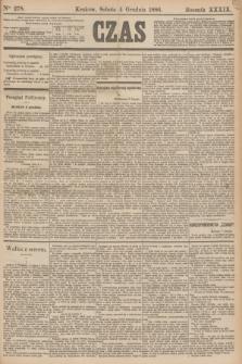 Czas. R.39, Ner 278 (4 grudnia 1886)