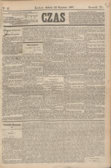 Czas. R.40, Ner 17 (22 stycznia 1887)
