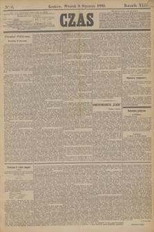 Czas. R.42, Ner 6 (8 stycznia 1889)