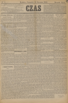 Czas. R.42, Ner 8 (10 stycznia 1889)