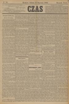 Czas. R.42, Ner 10 (12 stycznia 1889)