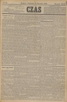 Czas. R.42, Ner 11 (13 stycznia 1889)