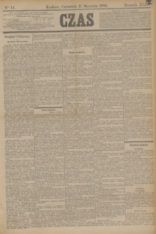 Czas. R.42, Ner 14 (17 stycznia 1889)