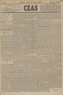 Czas. R.42, Ner 48 (27 lutego 1889)