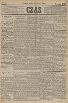 Czas. R.42, Ner 71 (27 marca 1889)