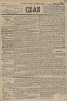 Czas. R.42, Ner 74 (30 marca 1889)