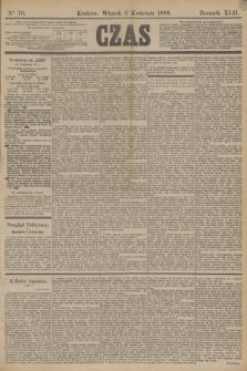 Czas. R.42, Ner 76 (2 kwietnia 1889)