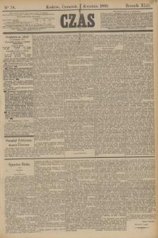 Czas. R.42, Ner 78 (4 kwietnia 1889)