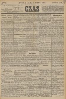 Czas. R.42, Ner 87 (14 kwietnia 1889)