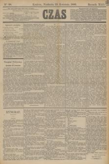 Czas. R.42, Ner 98 (28 kwietnia 1889)