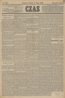 Czas. R.42, Ner 108 (11 maja 1889)