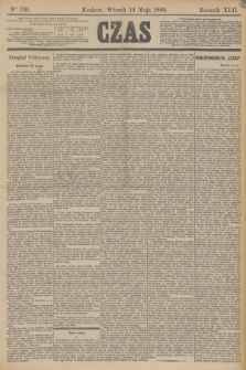 Czas. R.42, Ner 110 (14 maja 1889)