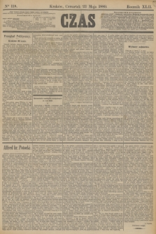 Czas. R.42, Ner 118 (23 maja 1889)