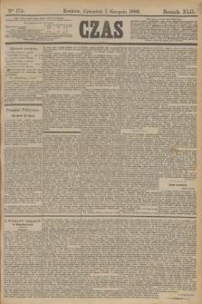 Czas. R.42, Ner 174 (1 sierpnia 1889)
