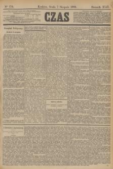 Czas. R.42, Ner 179 (7 sierpnia 1889)