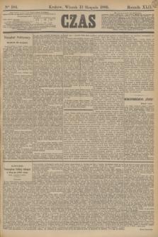 Czas. R.42, Ner 184 (13 sierpnia 1889)