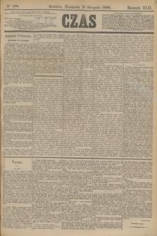 Czas. R.42, Ner 188 (18 sierpnia 1889)