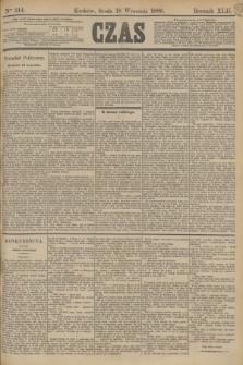 Czas. R.42, Ner 214 (18 września 1889)