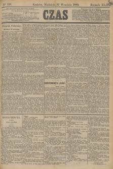 Czas. R.42, Ner 218 (22 września 1889)
