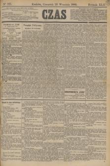 Czas. R.42, Ner 221 (26 września 1889)