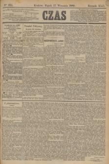 Czas. R.42, Ner 222 (27 września 1889)