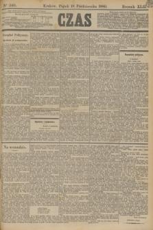 Czas. R.42, Ner 240 (18 października 1889)