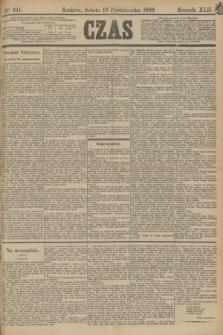 Czas. R.42, Ner 241 (19 października 1889)