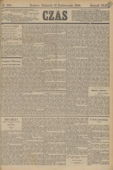 Czas. R.42, Ner 248 (27 października 1889)