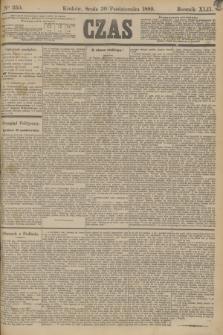 Czas. R.42, Ner 250 (30 października 1889)