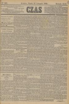 Czas. R.42, Ner 263 (15 listopada 1889)