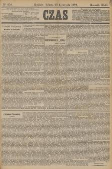 Czas. R.42, Ner 270 (23 listopada 1889)
