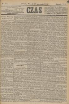 Czas. R.42, Ner 272 (26 listopada 1889)