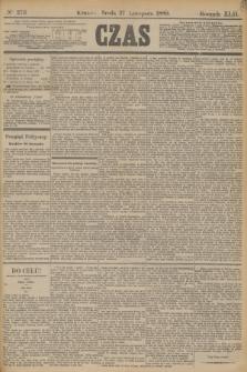 Czas. R.42, Ner 273 (27 listopada 1889)