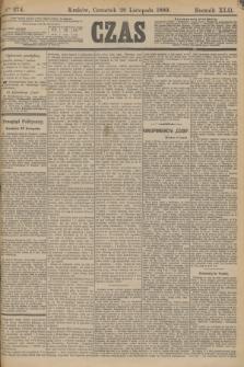 Czas. R.42, Ner 274 (28 listopada 1889)